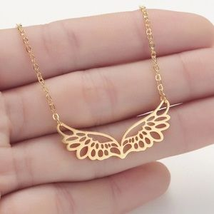 Just In👼 Stainless Steel Angel Wings Necklace